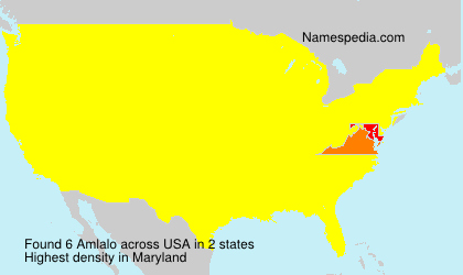 Surname Amlalo in USA