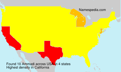 Surname Ammadi in USA