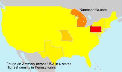 Surname Ammary in USA