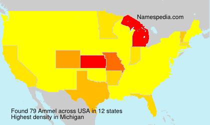 Familiennamen Ammel - USA