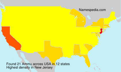 Surname Ammu in USA