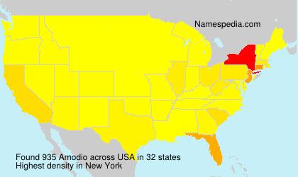 Surname Amodio in USA