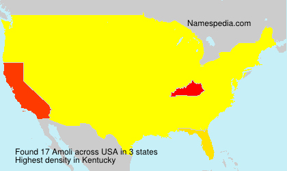 Surname Amoli in USA