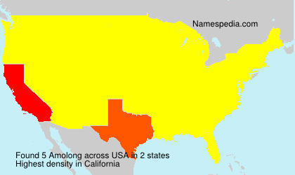 Surname Amolong in USA