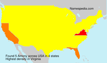 Surname Amony in USA