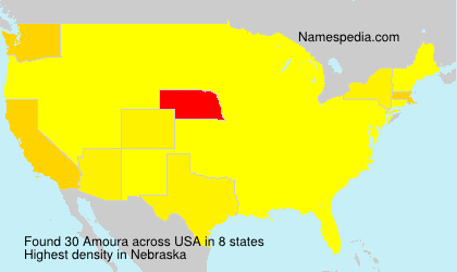 Surname Amoura in USA