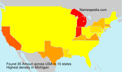 Surname Amouri in USA