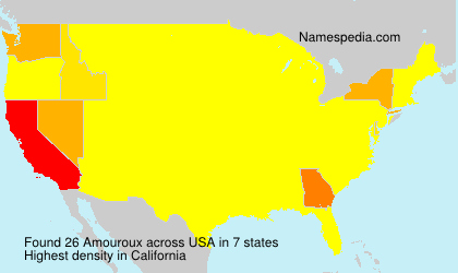 Surname Amouroux in USA