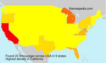 Surname Amouzegar in USA