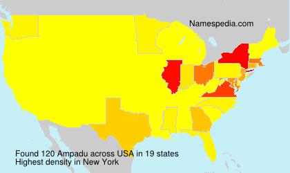 Familiennamen Ampadu - USA