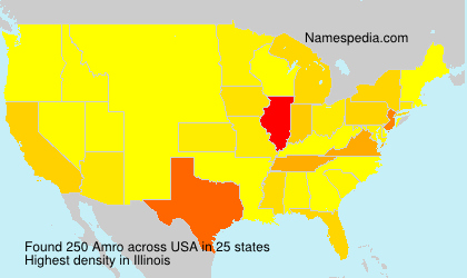 Surname Amro in USA