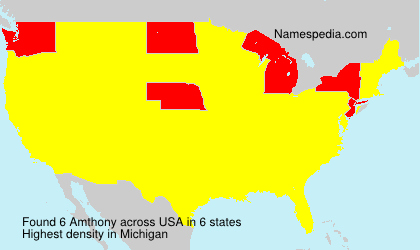 Surname Amthony in USA