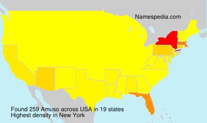 Familiennamen Amuso - USA