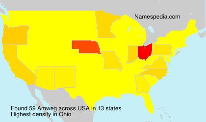 Surname Amweg in USA