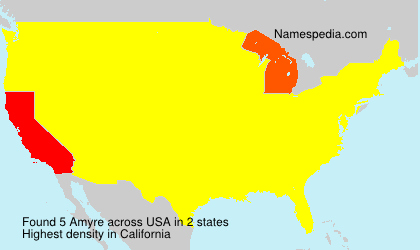 Surname Amyre in USA