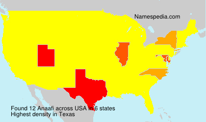 Surname Anaafi in USA
