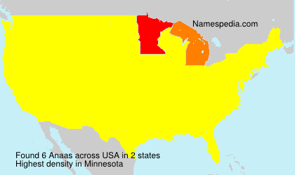 Surname Anaas in USA