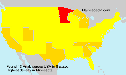 Surname Anab in USA