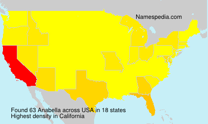 Surname Anabella in USA