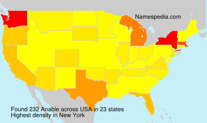 Surname Anable in USA
