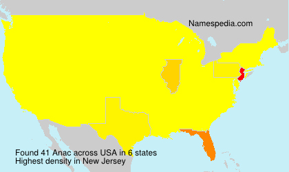 Surname Anac in USA