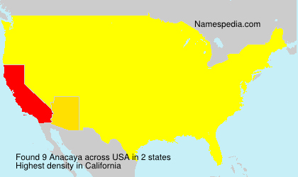 Surname Anacaya in USA