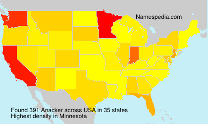 Surname Anacker in USA