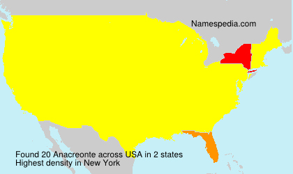 Surname Anacreonte in USA