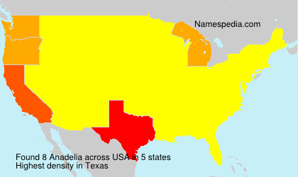Surname Anadelia in USA