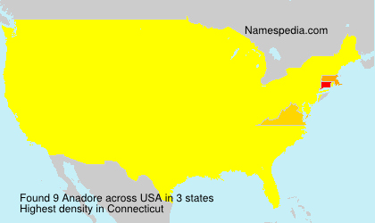 Surname Anadore in USA