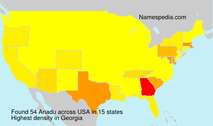 Surname Anadu in USA