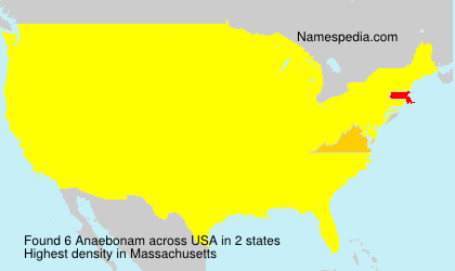 Surname Anaebonam in USA