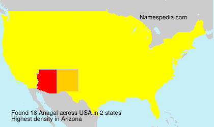 Surname Anagal in USA