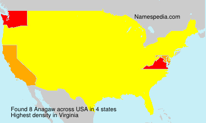Surname Anagaw in USA