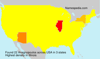 Surname Anagnopoulos in USA