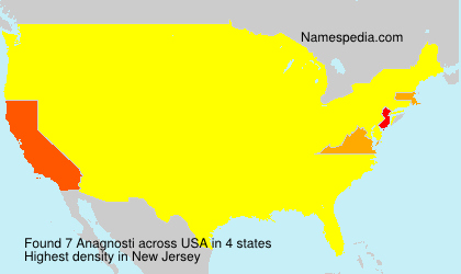 Surname Anagnosti in USA