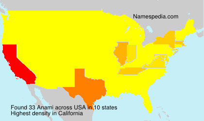 Surname Anami in USA