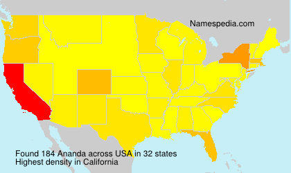 Surname Ananda in USA