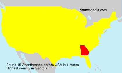 Surname Ananthasane in USA