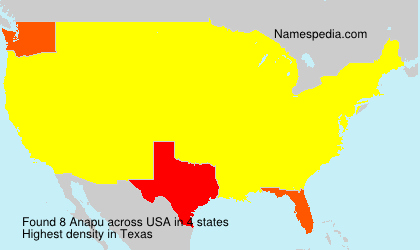 Surname Anapu in USA