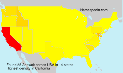 Familiennamen Anawalt - USA