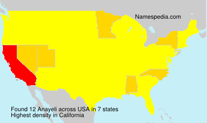 Surname Anayeli in USA