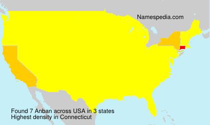 Familiennamen Anban - USA