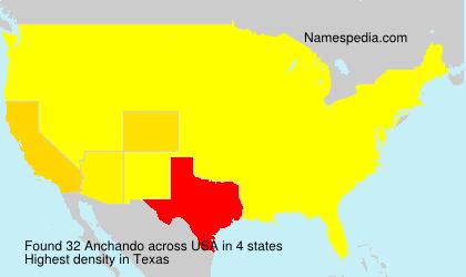 Surname Anchando in USA