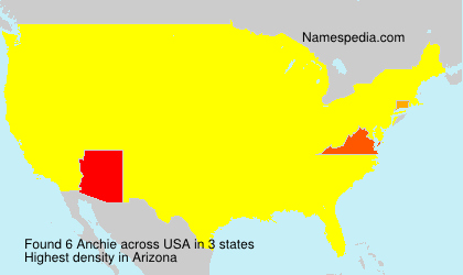 Surname Anchie in USA