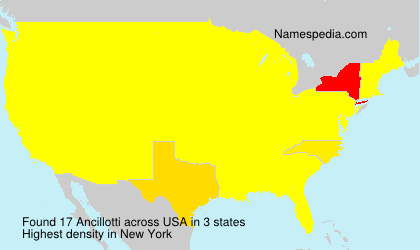 Surname Ancillotti in USA