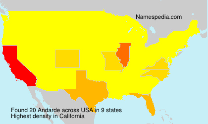 Surname Andarde in USA