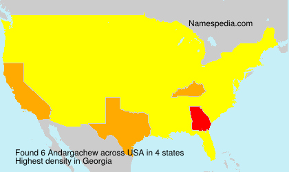 Surname Andargachew in USA