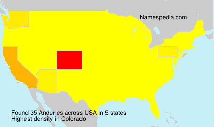 Surname Anderies in USA