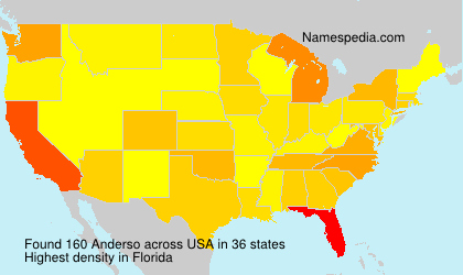 Surname Anderso in USA